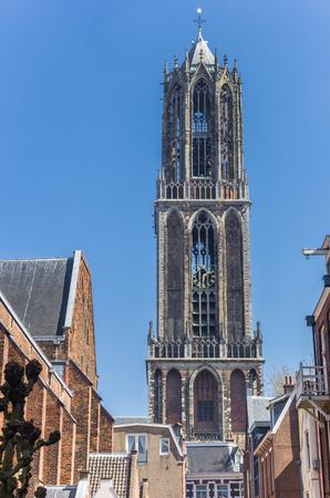 Church tower Domtoren in the historic center of Utrecht, Netherlands