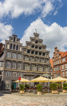 Chamber of Commerce at the central square of Luneburg, Germany