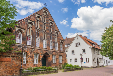 Historic church building Probstei in the center of Uelzen, Germany Stock Photo