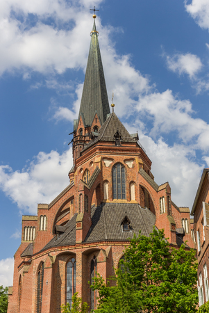 Sankt Nicolai church in the historic center of Luneburg, Germany Stock Photo
