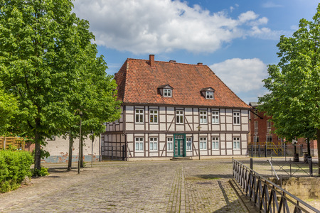 Historic house in the center of Uelzen, Germany Stock Photo