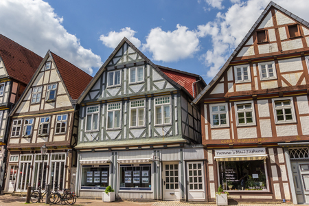 half timbered house: Street with old houses in the historic center of Celle, Germany Editorial