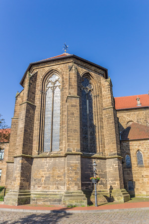 st german: St. Martini church in the historic center of Minden, Germany Stock Photo
