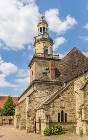 st german: St. Nicolai church in the historical center of Rinteln, Germany
