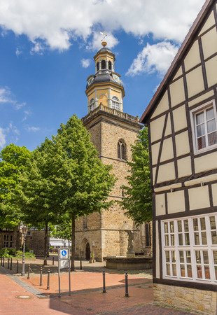st german: Tower of the St. Nicolai church in Rinteln, Germany