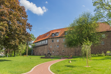 Castle and garden in the historical center of Blomberg, Germany Stock Photo