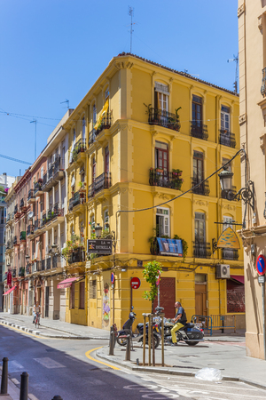 Colorful street in the Russafa neighbourhood of Valencia, Spain