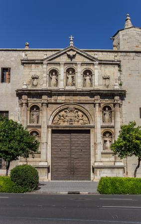 Entrance to the Convento de Santo Domingo monastery in Valencia, Spain Imagens