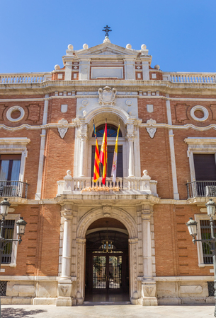 Entrance to the home of the Archbishop in the historic center of Valencia, Spain