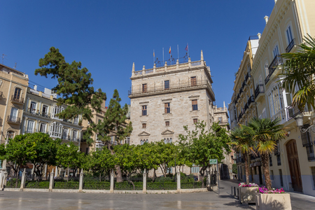 Palace of the generalitat in at the central square of Valencia, Spain