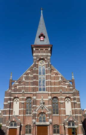 Facade of the Lutheran church in Haarlem, Netherlands