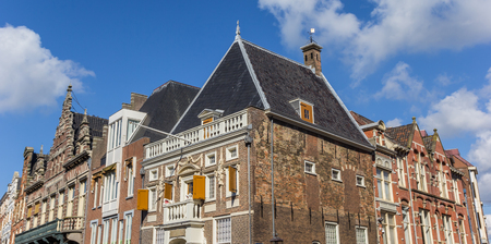Historic buildings at the central market square of Haarlem, Netherlands Stock Photo