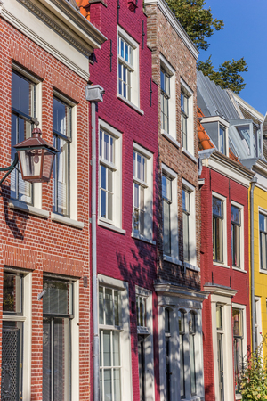 Colorful houses in the historic center of Haarlem, Netherlands