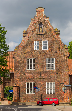 Historical building Ratsbucherei in the center of Luneburg, Germany Editorial