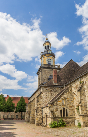St. Nicolai church in the historical center of Rinteln, Germany