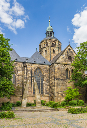 Tower of the Münster St. Bonifatius church in Hameln, Germany
