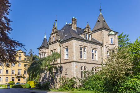 Historic renaissance Buckeburg palace complex in Lower Saxony, Germany