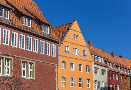 Colorful houses at the Ballhofplatz square in Hannover, Germany
