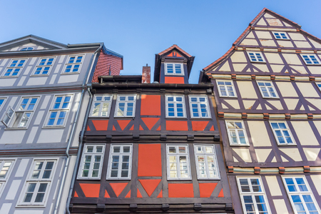 Colorful half-timbered houses in Hannover, Germany Stock Photo