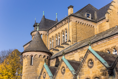 Church building in the historic center of Goslar, Germany
