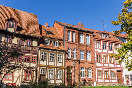 Historic houses at the Godehard square in Hildesheim, Germany