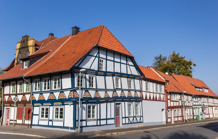 Colorful half timbered houses in Duderstadt, Germany