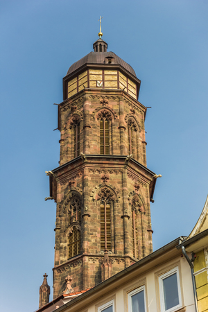 Tower of the St. Jacobi church in Gottingen, Germany Stock Photo