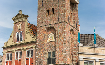 Old building in the historic center of Monnickendam, Netherlands Stockfoto