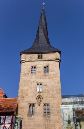 Historischer Turm Westerturm in der Mitte von Duderstadt, Deutschland Standard-Bild - 93425219