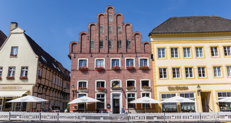 Panorama of the historic market square of Warendorf, Germany