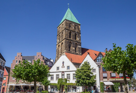 Central market square in historical city Rheine, Germany Editorial