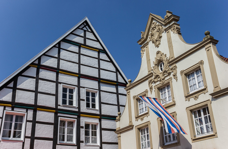 Local flag on an old house in Warendorf, Germany Editorial
