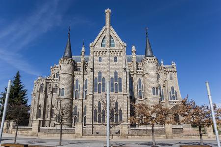 Facade of the episcopal palace in Astorga, Spain