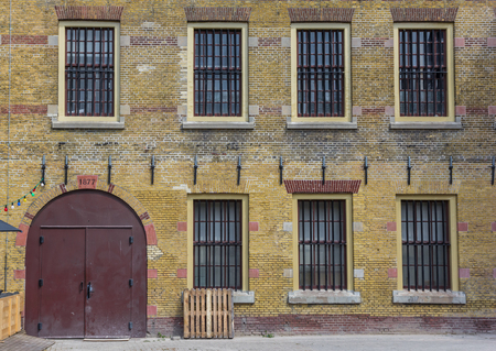 Door and windows of the former prison in Leeuwarden, Netherlands