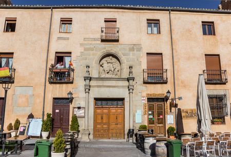 Historic tapas bar in the center of Avila, Spain