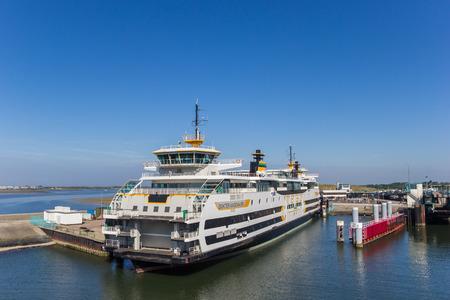 Ferry servicing between Den Helder city and Texel Island in The Netherlands Editorial