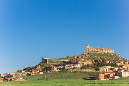 Lanscape view on top of the hill in Atienza, Spain