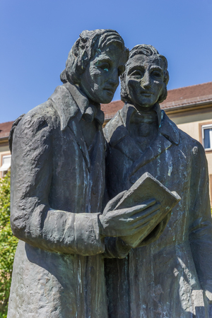Statue of the Brothers Grimm in Kassel, Germany