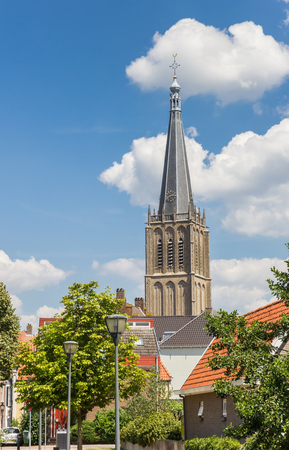 Tower of the Martini church in the center of Doesburg, Netherlands