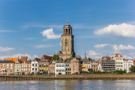 Skyline of historic city Deventer in The Netherlands