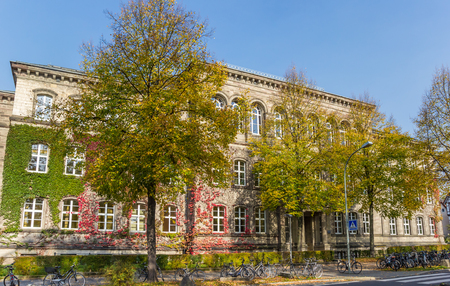 School building of the Max Planck Gymnasium in Gottingen, Germany 写真素材