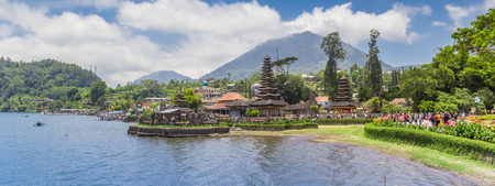 Panorama of the Ulun Danu temple on Bali, Indonesia