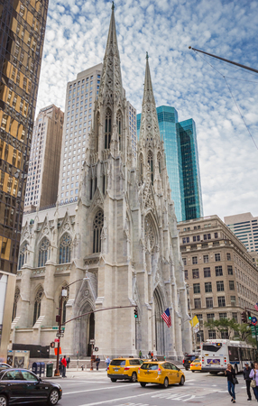 St. Patricks Cathedral on Fifth Avenue in New York City, USA