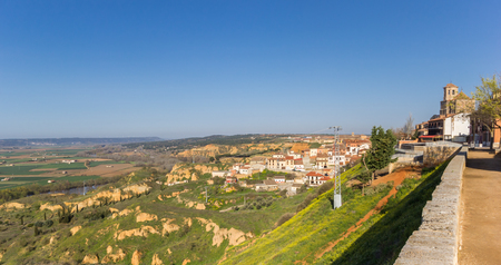 Colorful landscape as seen from the city of Toro, Spain