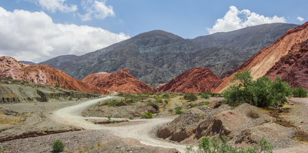 Panorama of the Hill of Seven Colors near Purmamarca, Argentina