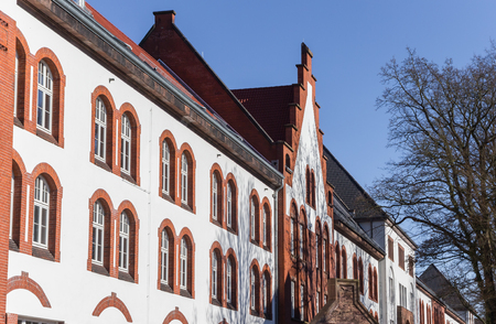 Historic buildings in the center of Wilhelmshaven, Germany