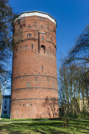 Old water tower in the center of Wilhelmshaven, Germany Imagens