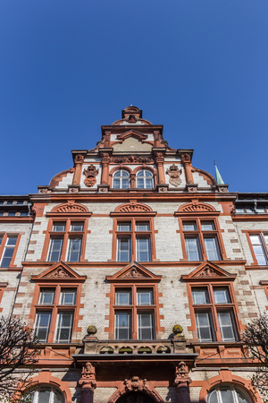 Facade of the old post office in Schwerin, Germany