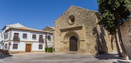 Panorama of the Romanica Santa Cruz church in Baeza, Sapin