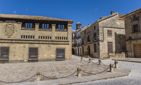 Historic buildings in the old town of Baeza, Spain